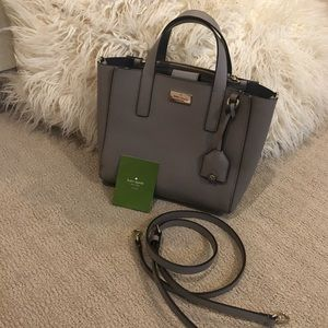 Kate Spade Crossbody/Tote Purse- light grey